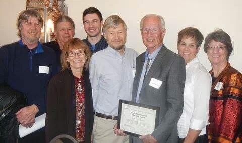 Ivan Westergaard received the first Chris & John Haaland Advocacy Award
