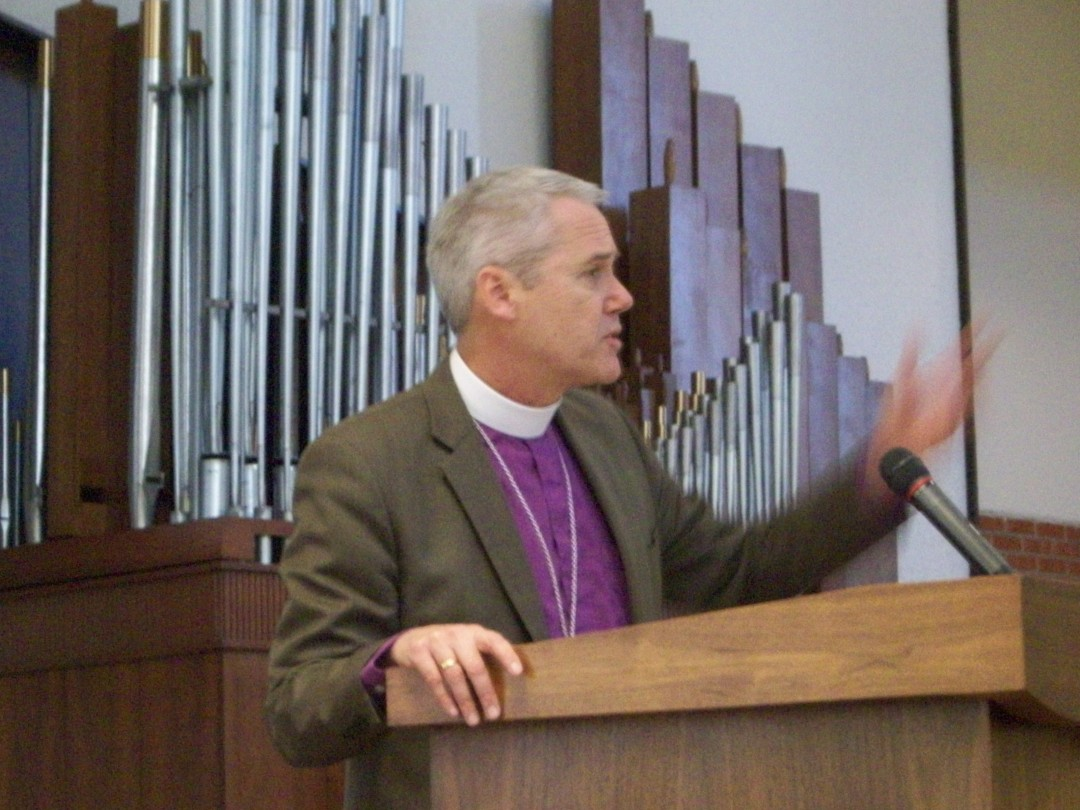 Bishop Gonia welcome advocates