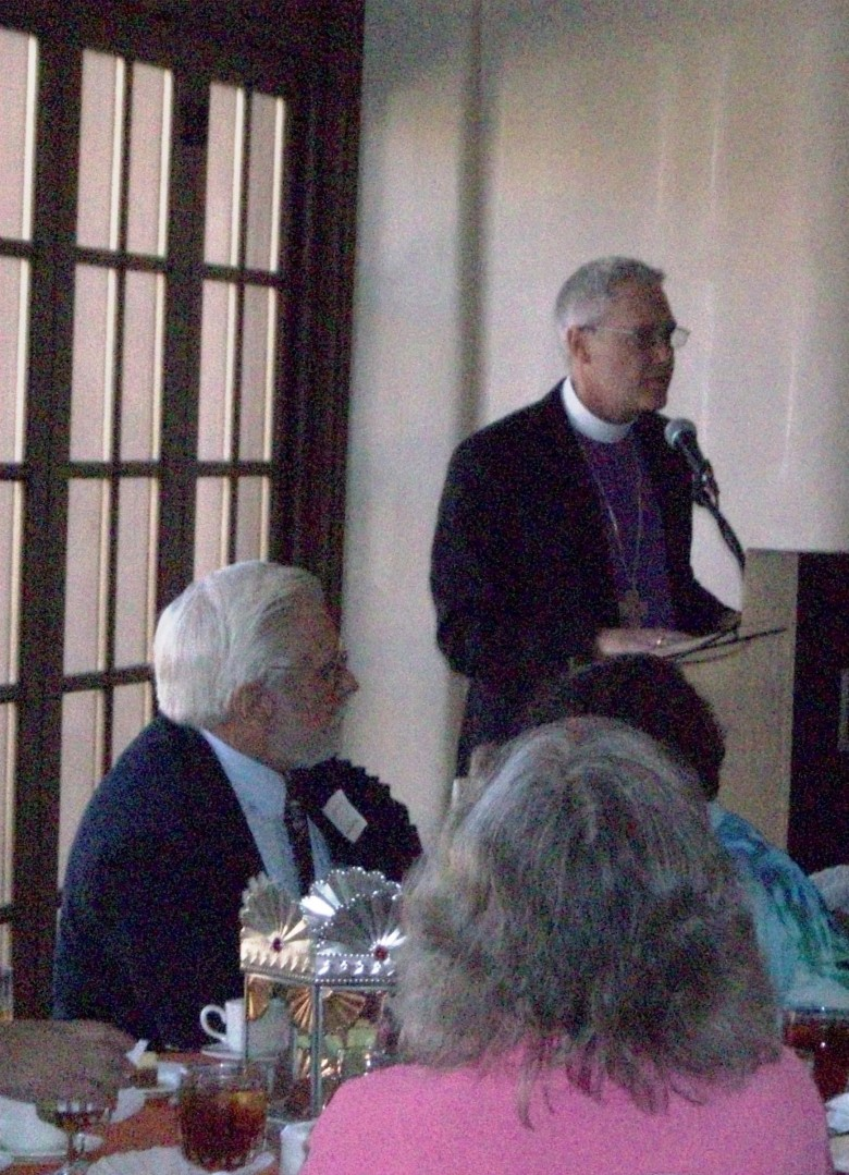 Bishop Gonia speaks at the Luncheon